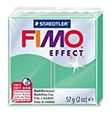 Staedtler - Fimo Effect - Pain Pâte à Modeler 57 g Effet Pierre Précieuse Vert Jade