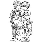 """Stampavie Sarah Kay Clear Stamp-Quiet Moments 3-1/2 """""""