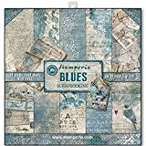 Stamperia Papier scrapbooking assortiment blues 10f recto verso 170 gr/m2