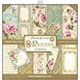 Stamperia - Papier scrapbooking assortiment roses 10f recto verso - 170 gr/m2
