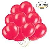 Starcrafter Lot de 15 Ballons Lumineux LED Beau Ballons pour Club, Party, Fête d'Anniversaire, Mariage, Festival (Rouge)