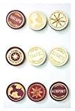 Stickers bois - Tampon de voyage - 9 pièces - Graines créatives
