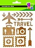 Stickers liège - Voyage - 23 pièces - Graines créatives
