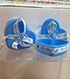 Stock 25pièces Boîte cœur avec nœud et Sucette Bleu clair portaconfetti Porte Dragées Bonbonnière naissance garçon