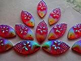 Strass Cristal AB Couleur résine rouge 80pièces à coudre navette forme 11cabochons * * * * * * * * ...