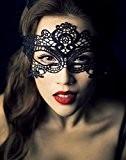 SUMERSHA Sexy Mystique Masque Vénitien en Dentelle Mask Masquerade Photographie Cosplay Noir