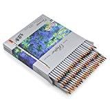 Sumnacon 72 crayons de couleur de forme hexagonale, qualité professionnelle (72 couleurs)