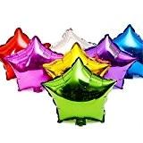 Sunshey 50pcs / lot Ballon en Forme de Étoile Métallique Couleur 18 Pouces pour Décoration de Mariage Simple Étoile Hélium ...