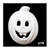 Super44day 10 pièces Blanc Citrouille Masque en papier mâché à décorer soi même- Idéal pour le Carnaval,enfants à peinture, Masque ...