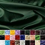 Taffetas de soie - tissu universel en 27 couleurs - tissu de doublure - décoration - vendue au mètre (vert ...