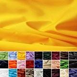 Taffetas de soie - tissu universel en 27 couleurs - tissu de doublure - décoration - vendue au mètre (jaune)