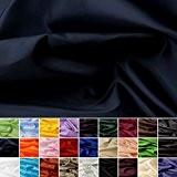 Taffetas de soie - tissu universel en 27 couleurs - tissu de doublure - décoration - vendue au mètre (marine)