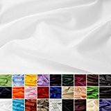Taffetas de soie - tissu universel en 27 couleurs - tissu de doublure - décoration - vendue au mètre (blanc)