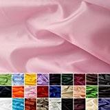 Taffetas de soie - tissu universel en 27 couleurs - tissu de doublure - décoration - vendue au mètre (rosé)