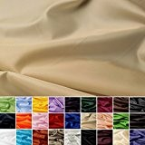 Taffetas de soie - tissu universel en 27 couleurs - tissu de doublure - décoration - vendue au mètre (roseau)