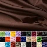 Taffetas de soie - tissu universel en 27 couleurs - tissu de doublure - décoration - vendue au mètre (brun)