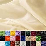 Taffetas de soie - tissu universel en 27 couleurs - tissu de doublure - décoration - vendue au mètre (crème)