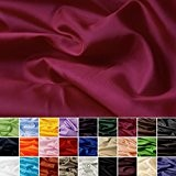 Taffetas de soie - tissu universel en 27 couleurs - tissu de doublure - décoration - vendue au mètre (cardinal)