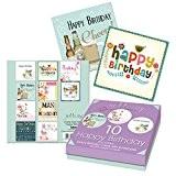 Tallon Boite de 10 cartes d'anniversaire pour adultes