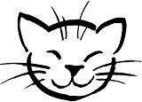 Tampon en bois Tête de chat - PSX