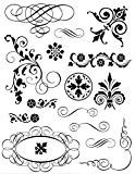 Tampon Transparent Spirales et arabesques - Artémio
