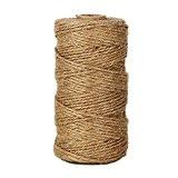 Tenn Well Ficelle Corde en Jute, Ficelle en Jute Naturel épaisse 2ply pourl'artisanat Floristique, Cadeaux, Arts et Artisanat Bricolage, Décoration, ...