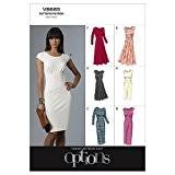 The McCall Pattern Company V8685 Patrons de couture de robes pour femme Vogue Tailles EE 14-16-18-20