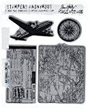 Tim Holtz tampon en caoutchouc Set de voyage Air fraîcheur 7x 7x 21,5cm