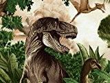 Timeless Treasures Coupons de tissu en popeline Dinosaures Vert-par Fat Quarter + sans Minerva Crafts Craft Guide