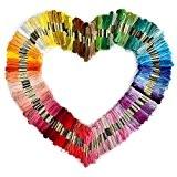 Tinksky Broderie fil dmc fils 150 échevettes de 8 M multi-couleur Threads Floss(Random Color)