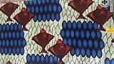 Tissu africain, cire d'Afrique en tissu imprimé, 6m * * * * * * * * * * * * ...