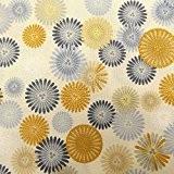 Tissu Robert Kaufman Satsuki 4 Fond crème fleurs - Par 50 cm