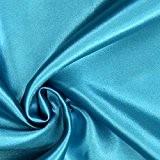 Tissu satin fluide polyester au mètre - Turquoise Réf 7530 - Avenue des Tissus