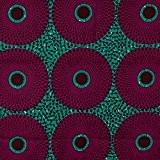 Tissu Wax motif africain - Bleu & violet