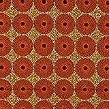 Tissu Wax motif africain - Orange & vert