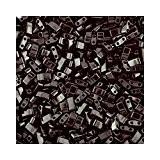 TLH401 Tila Perle Miyuki-Noir Opaque Lot de 50 grammes