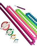 Tmade Lot de 4Long papier froissé tisser Ensemble à tricoter Craft Kit Chaussette Écharpe Chapeau Maker (L x l?: 24*5cm, ...