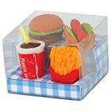 Tobar  Pack de 4 Gommes - Fast Food