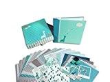 Toga KT73 Scrapbox Naissance Garçon Kit de Scrapbooking Papier Bleu 23 x 26 x 5,5 cm