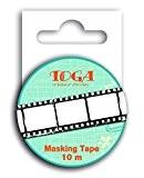 Toga MT100 Ruban de Masquage Négatif Photo Washi Tape Noir/Blanc 5,5 x 7 x 1,5 cm