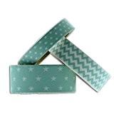 Toga MT91 3 Masking Tape Etoiles Chevrons Pois Washi Tape Bleu Menthe 6,5 x 9 x 5 cm