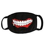 Tokyo Ghoul masque joli coton noir manga dents visage bouche demi-masque
