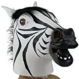 Tonsee® Zebra Masque Latex animal Costume Halloween Prop