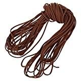 TOOGOO(R) 16.65-18.655m 2mm Cuir brun bracelet en cuir cordon Bracelet en cuir plat de bricolage