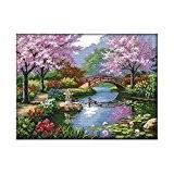 TOOGOO(R) 57 * 45cm Kits de broderie au point de croix DIY Kit main 14CT en motif de beau paysage ...