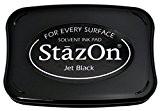 Tsukineko StazOn Tampon d'encre, jet noir
