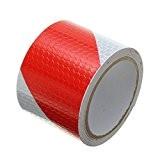 tuqiang® 3m Rouge Blanc Twill réfléchissants bande autocollante Avertissement de sécurité conspic uity Nuit Bandes réfléchissantes Tape Film Autocollants