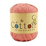 Une Référence Super Doux pour Bébé en Coton Naturel fil à tricoter, 23couleurs différentes