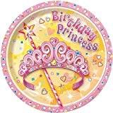 Unique Party - 25654 - Paquet de 8 Assiettes en Carton - Jolie Princesse - 18 cm
