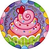 Unique Party - 42254 - Paquet de 8 Assiettes en Carton - Fête Bonbons - 18 Cm